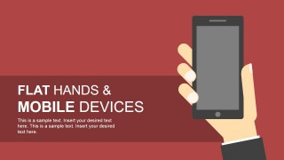 Flat Hand Shapes & Mobile Devices for PowerPoint