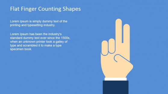 Finger Shape for PowerPoint Counting Two