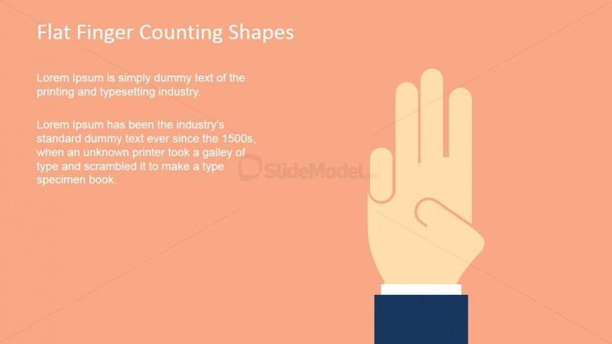 Finger Shape for PowerPoint Counting Three