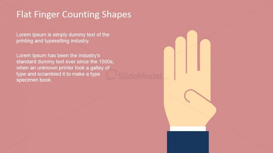 Finger Shape for PowerPoint Counting Four