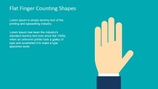 Finger Shape for PowerPoint Counting Five