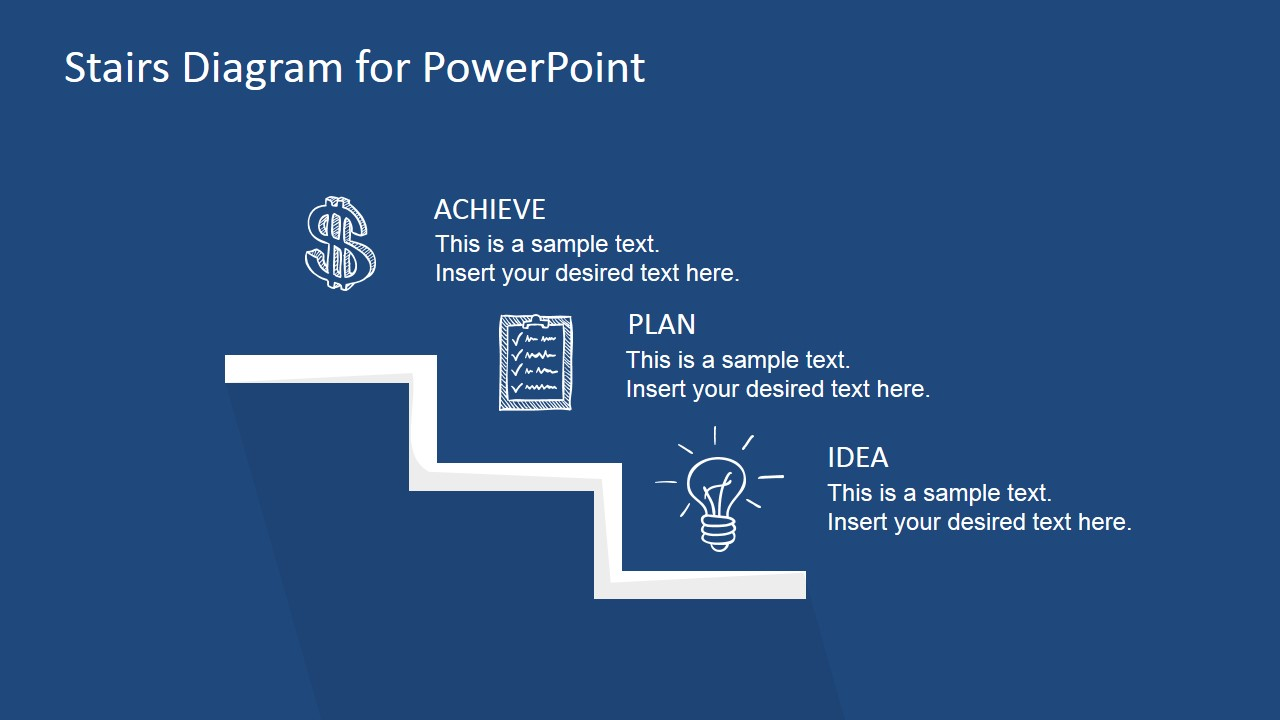 Stairs Diagram PowerPoint Template - SlideModel