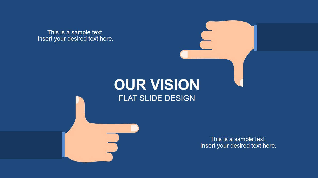 Flat Framing Hands Vision in PowerPoint