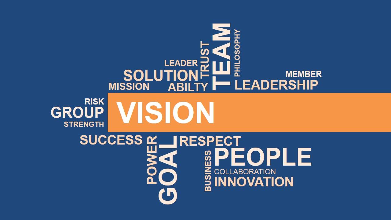 Simple Vision Word Cloud Design for PowerPoint