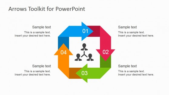 Cycle Process with Arrows for PowerPoint