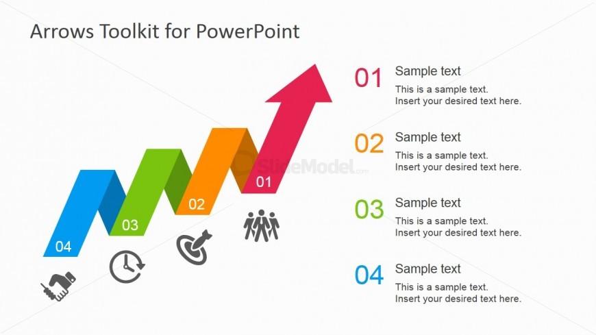 Zig Zag Arrow Design for PowerPoint