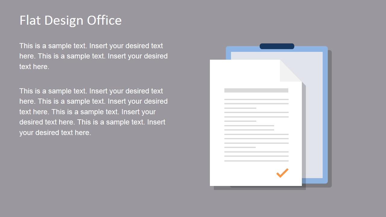 Flat design office powerpoint templates slidemodel flat office document vector for powerpoint alramifo Choice Image