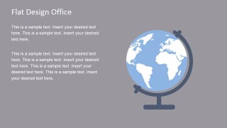 Earth Globe Flat Vector for PowerPoint