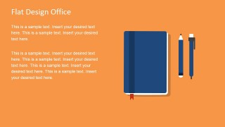 Notepad Design Vector for PowerPoint