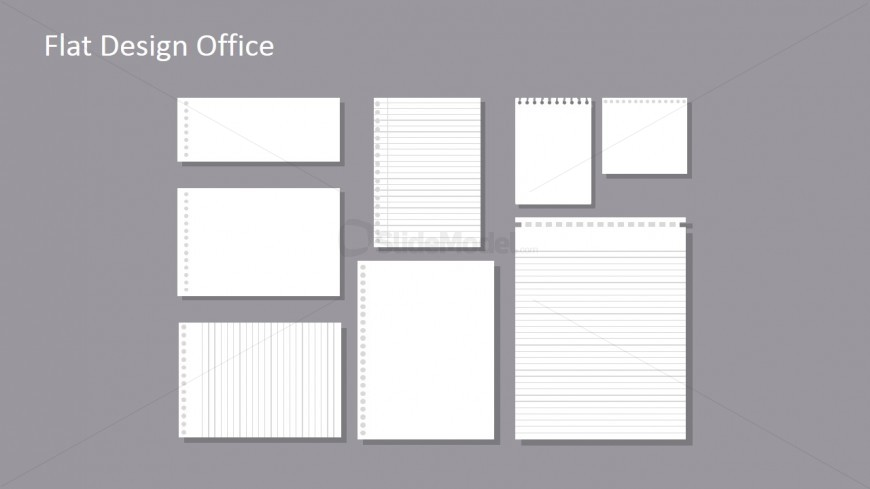 flat lined paper template for powerpoint  slidemodel, Powerpoint