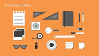 Flat Office Kit Vectors for PowerPoint