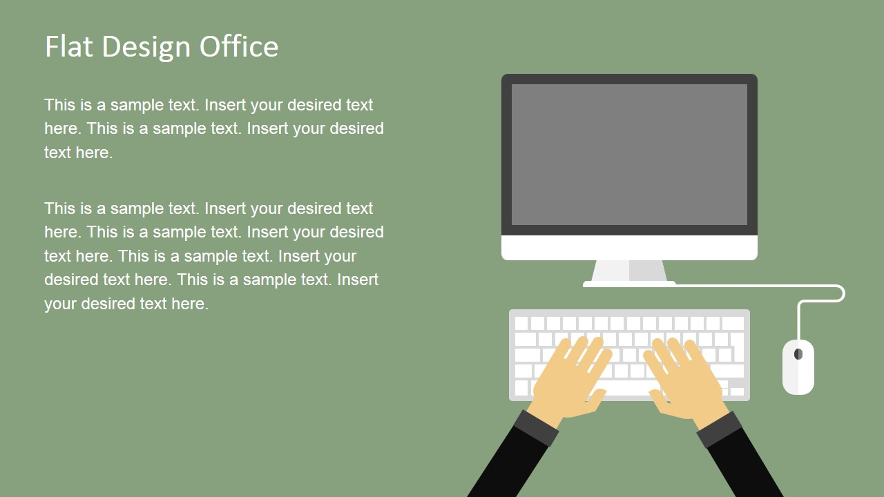 Flat design office powerpoint templates slidemodel alramifo Image collections