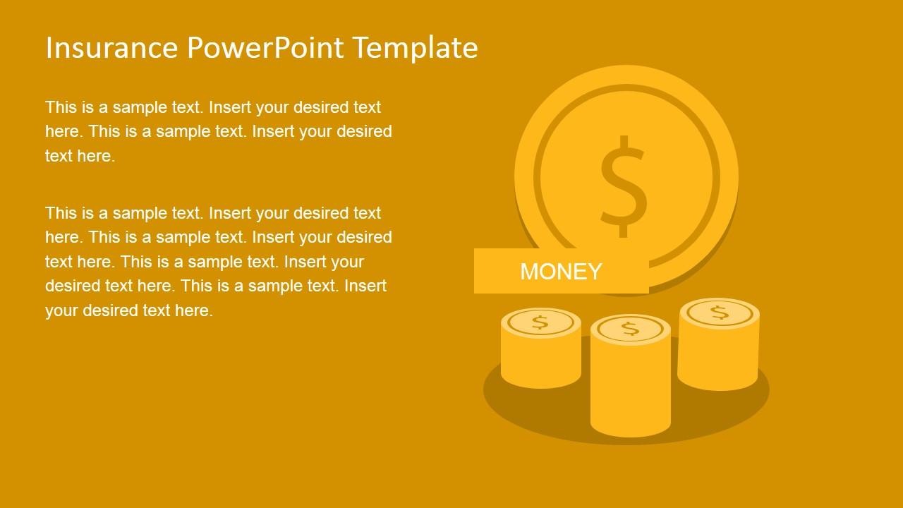Insurance powerpoint template slidemodel insurance powerpoint template medical insurance slide design insurance slide design with coin shapes toneelgroepblik Images