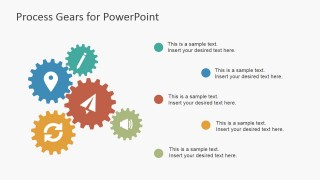 Process Gear Layout for PowerPoint