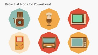 Retro Style PowerPoint Icons Featuring Technology