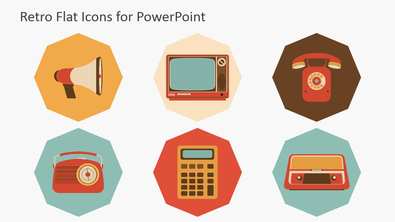 Vintage PowerPoint Shapes Devices