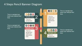 Wooden Pencil Banner Shapes for PowerPoint
