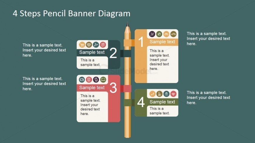PowerPoint Pencil Clipart with Banners
