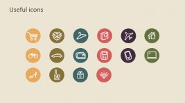 Flat Thin Icons for PowerPoint