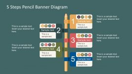 Colorful Pencil Banner Icon Infographics