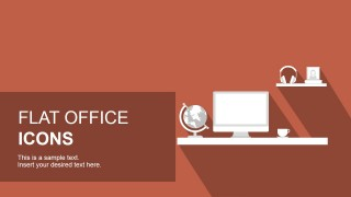 Office Icon Set Illustration for PowerPoint
