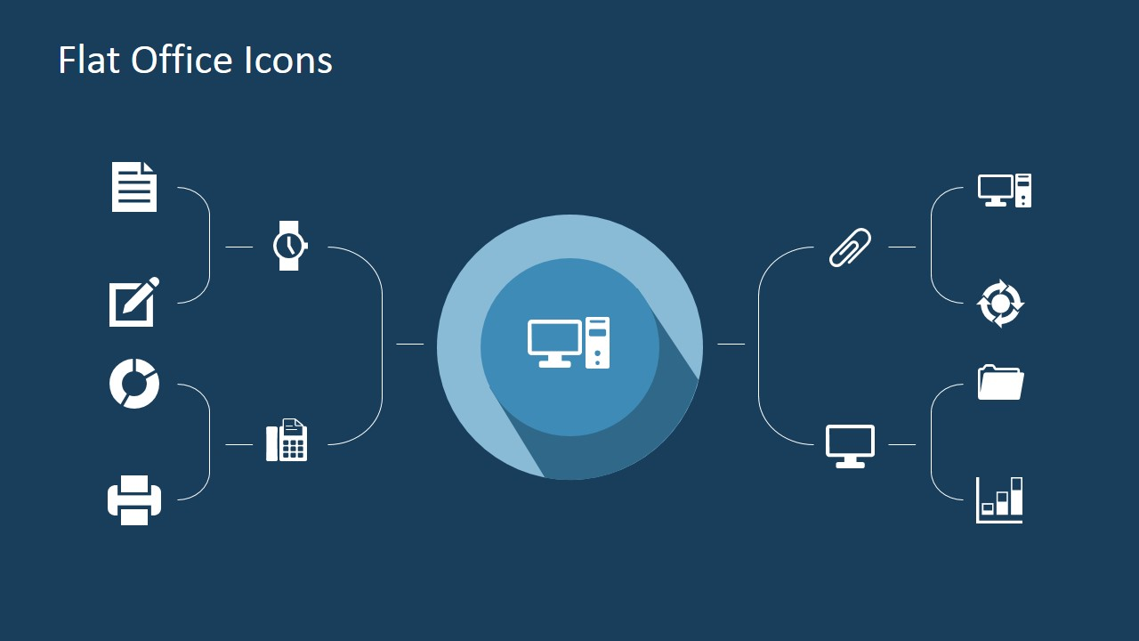 flat office powerpoint icons