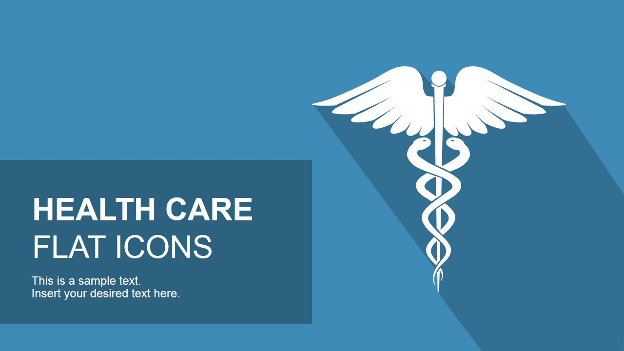 Flat Healthcare Icons For Powerpoint