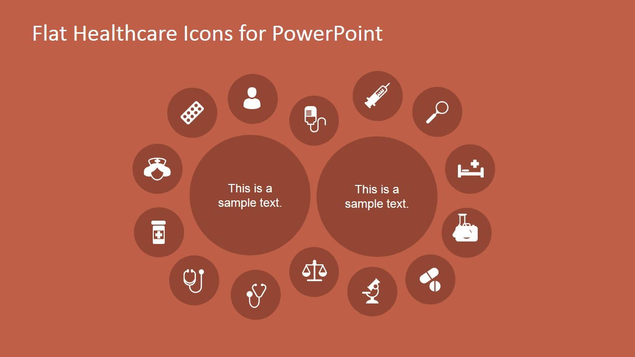Medical Icons Layout Design for PowerPoint