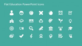 Education Theme PowerPoint Icons Gallery