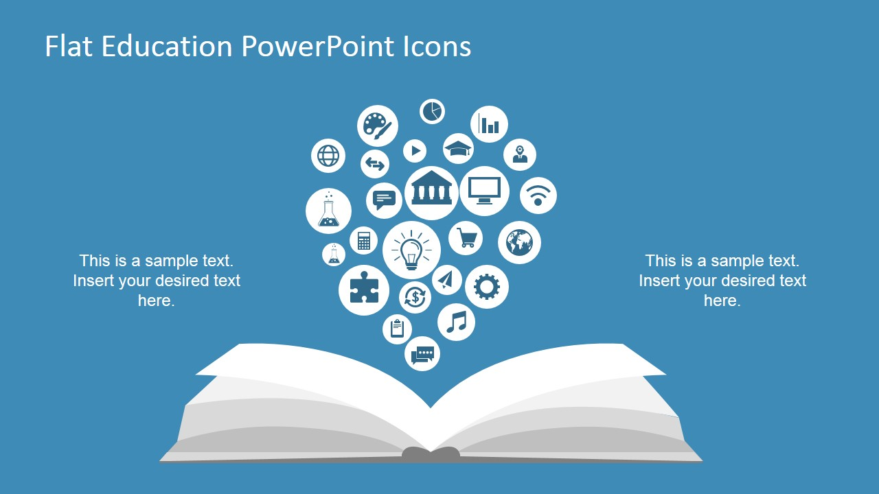 flat education powerpoint icons slidemodel