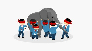 Elephant and Blind-Folded Men PowerPoint Shapes