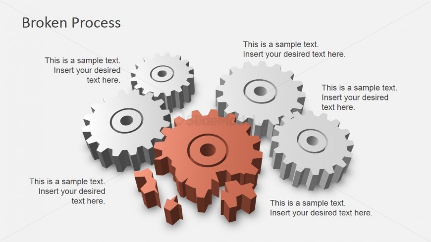 Process Slide Design With Broken Gear SlideModel