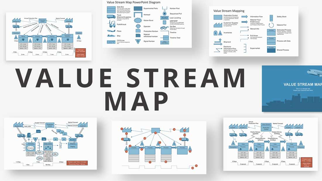 Value Stream Map PowerPoint Diagrams