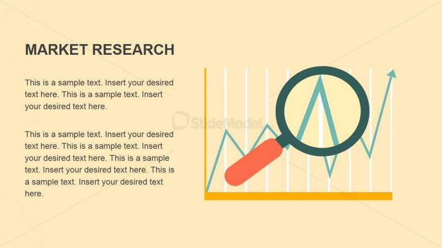 Market Research Flat Design Clipart Metaphor for PowerPoint