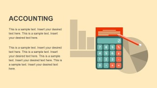 PowerPoint Flat Icons Metaphor Calculator and Charts