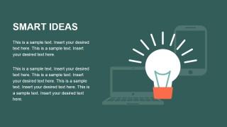Smart Ideas Flat Lightbulb PowerPoint Design