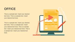 Office Metaphor Flat Design PowerPoint Template