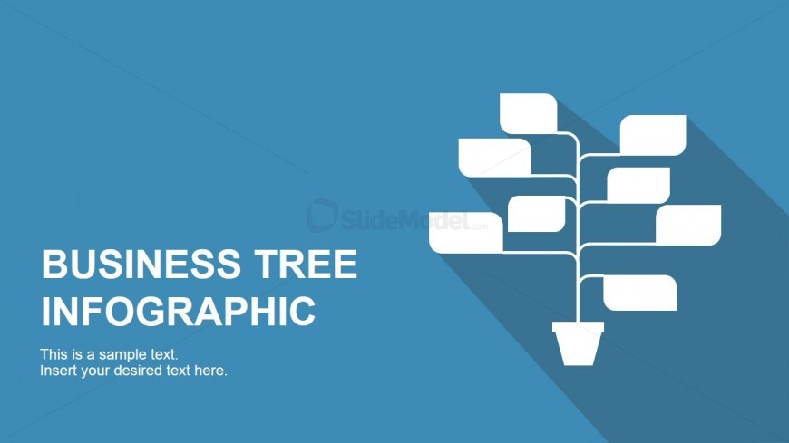 Tree with Stems Infographic for PowerPoint