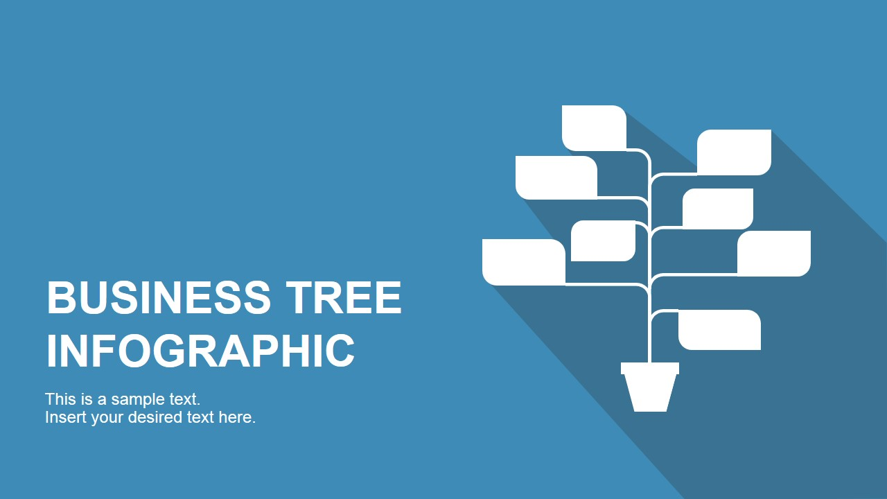 business tree infographic for powerpoint