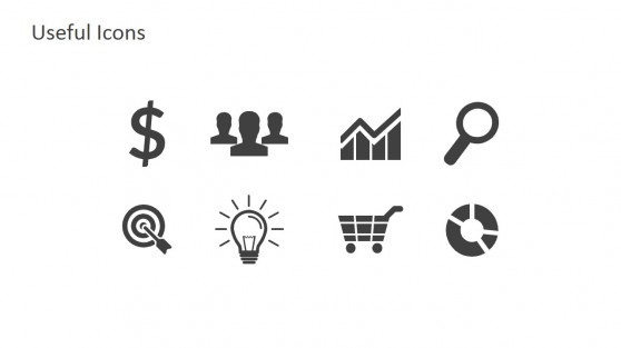 Generic Icons in Black and White Infographic