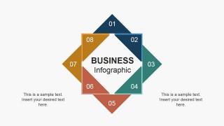 8 Steps Creative Squares Slide Design
