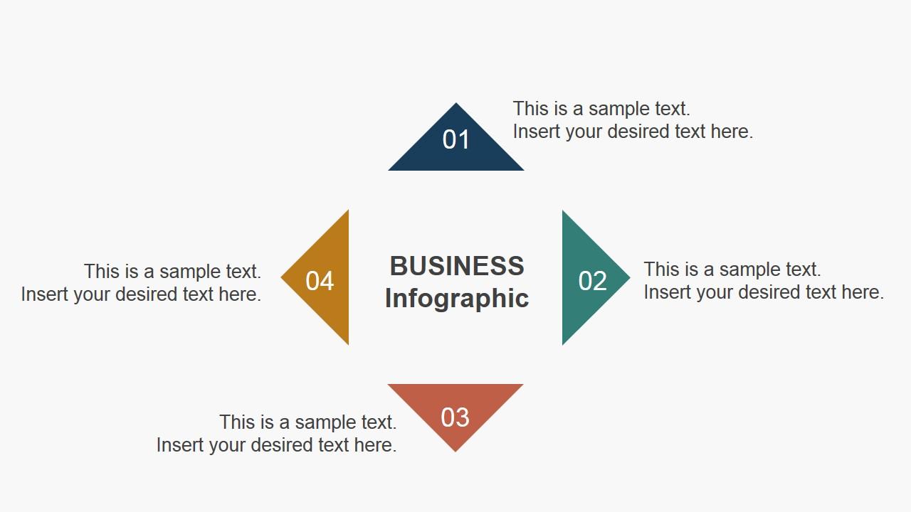 4 Steps Triangular Slide Business Diagram Concept