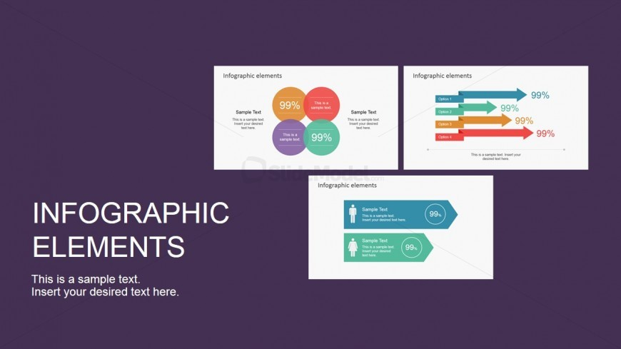 PowerPoint Slide Featuring Infographic Elements