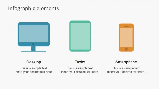 Flat Device Icons for Infographics