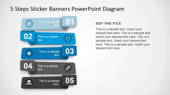 5 Steps Sticker Diagram Design