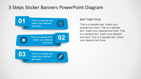 Numbered PowerPoint Banners with Icons