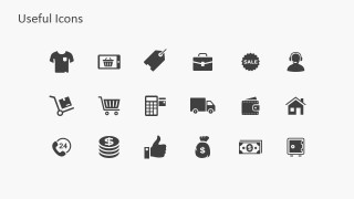 PowerPoint Icons Featuring e-Commerce