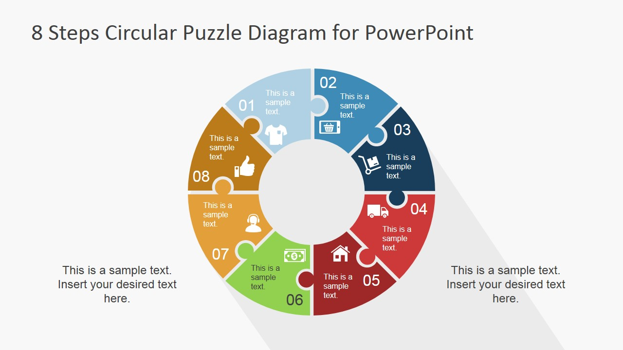 8 step circular puzzle diagram template for powerpoint slidemodel 6911 04 8 steps circular puzzle diagram 2 ccuart Choice Image