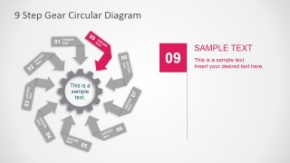 PowerPoint Circular Diagram of 9 Steps