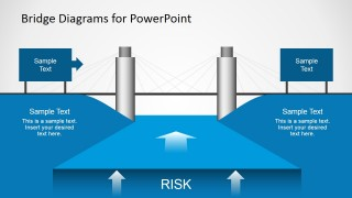 Bridge Diagram Graphic for PowerPoint with Risk Illustration